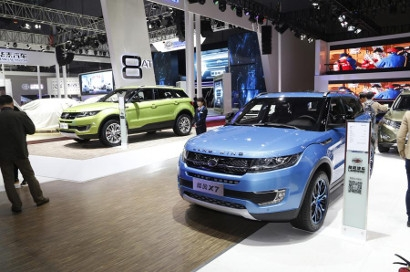 Range Rover Evoque и его китайский клон 2015 LandWind X7?